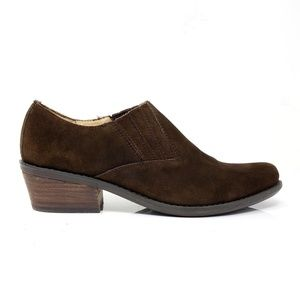 Nickels Brown Suede Ankle Boots